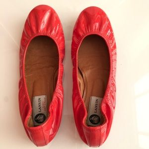 Lanvin classic patent leather flats